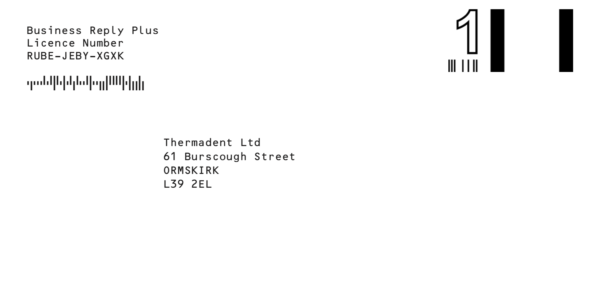 Thermadent Orthodontic Postal Label