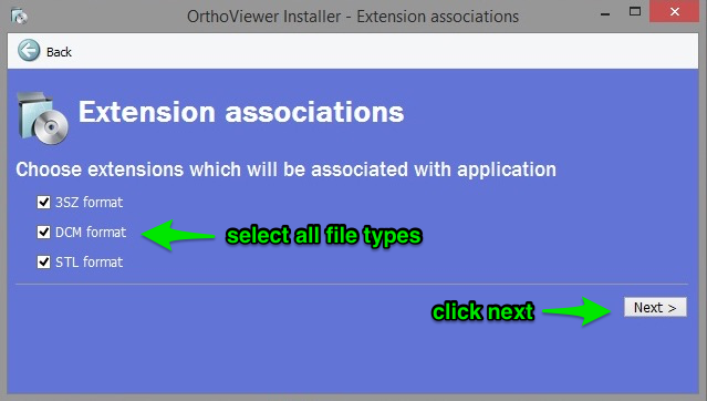 Orthoviewer download screen 2